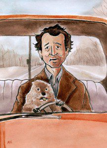Bill Murray as Phil Connors in Groundhog Day by Andrew O. Ellis