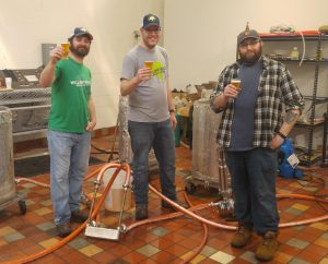 Mike LeRoy,from Stout Beard Brewing, visits to brew at Willow Rock Company